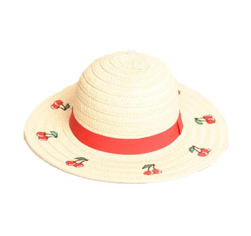 Straw floppy hat for children
