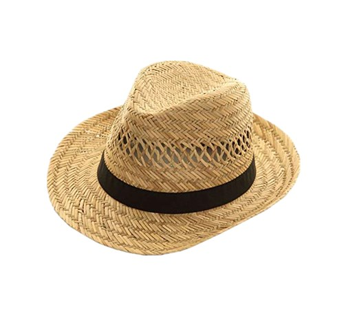 Natural mat grass hat for men