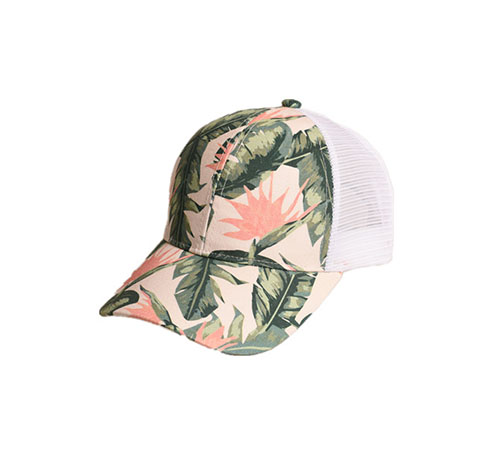 Printed baseball hat