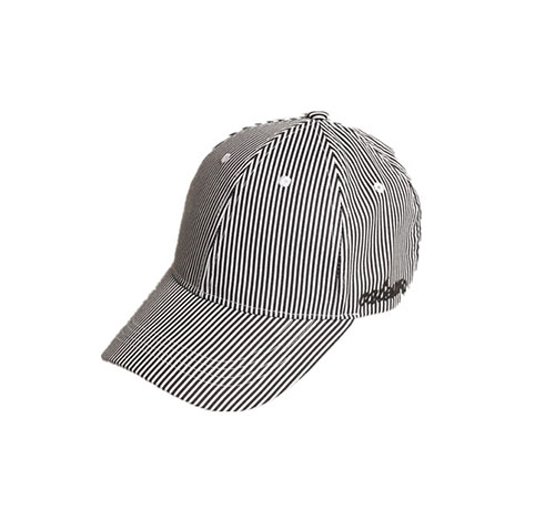 Summer stripped baseball cap