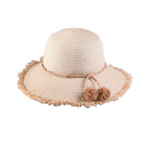paper braid bucket hat with flower, bucket cap