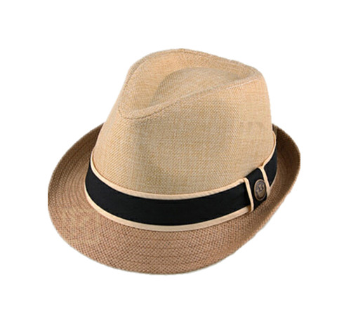Paper straw made fedora hat