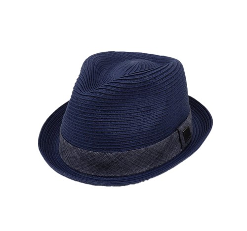 straw trilby hat