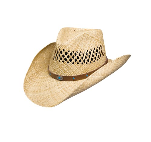 Sun hat crushable straw cowboy hat