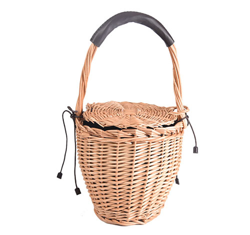 natural bamboo straw basket