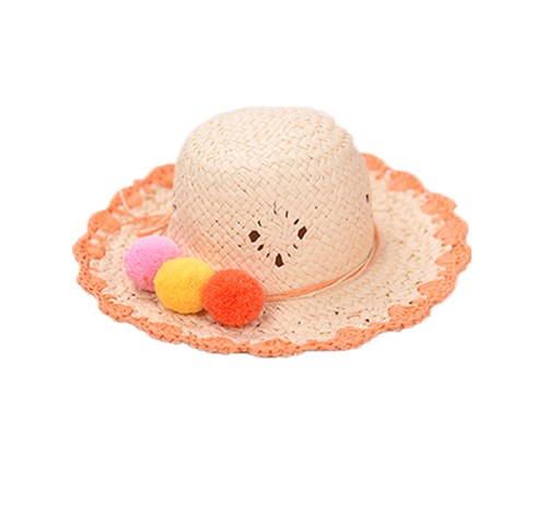 Handmade straw hat for children