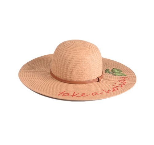 Embroidered floppy hat