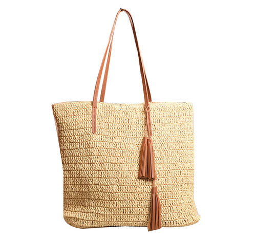 Straw bag for beach