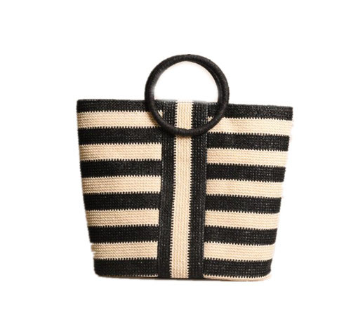Fashionable striped bag