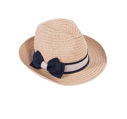 ladies black fedora straw hat